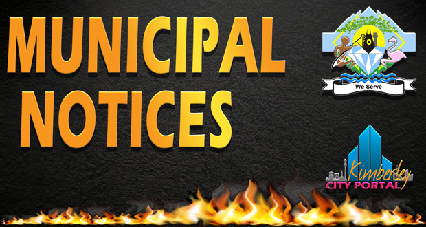 Sol Plaatje Municipal Notice Firebreaks