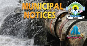 Kimberley Water Notice From Sol Plaatje Municipality.