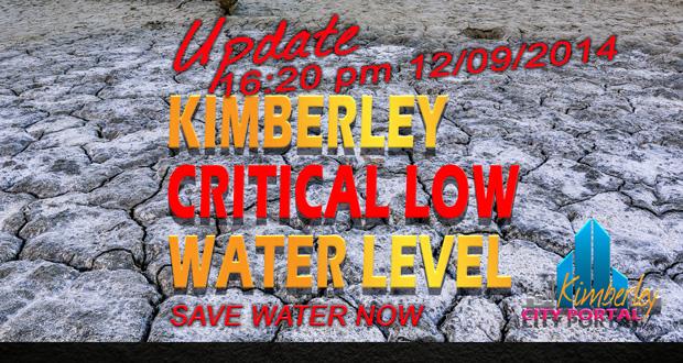 Kimberley Water Critically low.