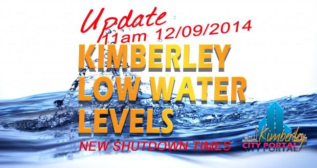 Kimberley Water Crisis, New Shutdown times