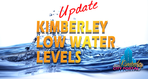 Low water levels update for Kimberley Northern Cape