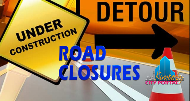 Road closures, road works and road construction in Kimbmerley