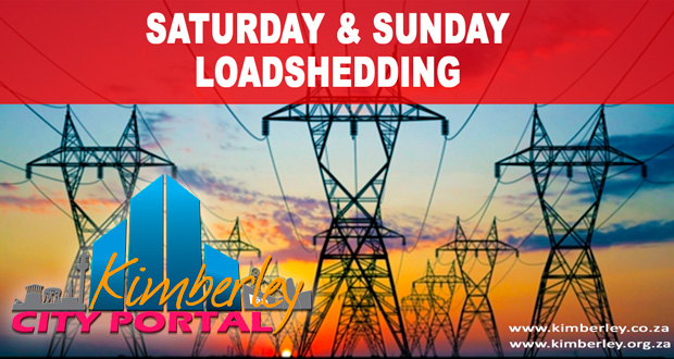 Kimberley Sol Plaatje Loadshedding Schedule Saturday Sunday