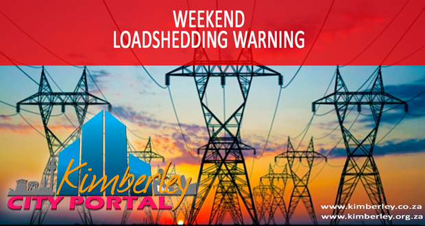 Weekend Loadshedding Warning