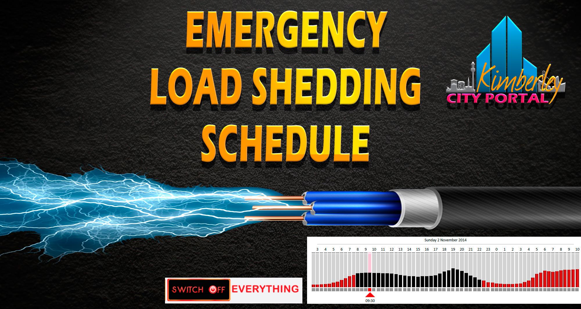 Loadshedding Today: Emergency Load Shedding Schedule 02-11-2014
