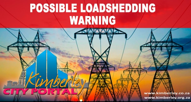 Eskom loadshedding warning for Tuesday 06/01/2014