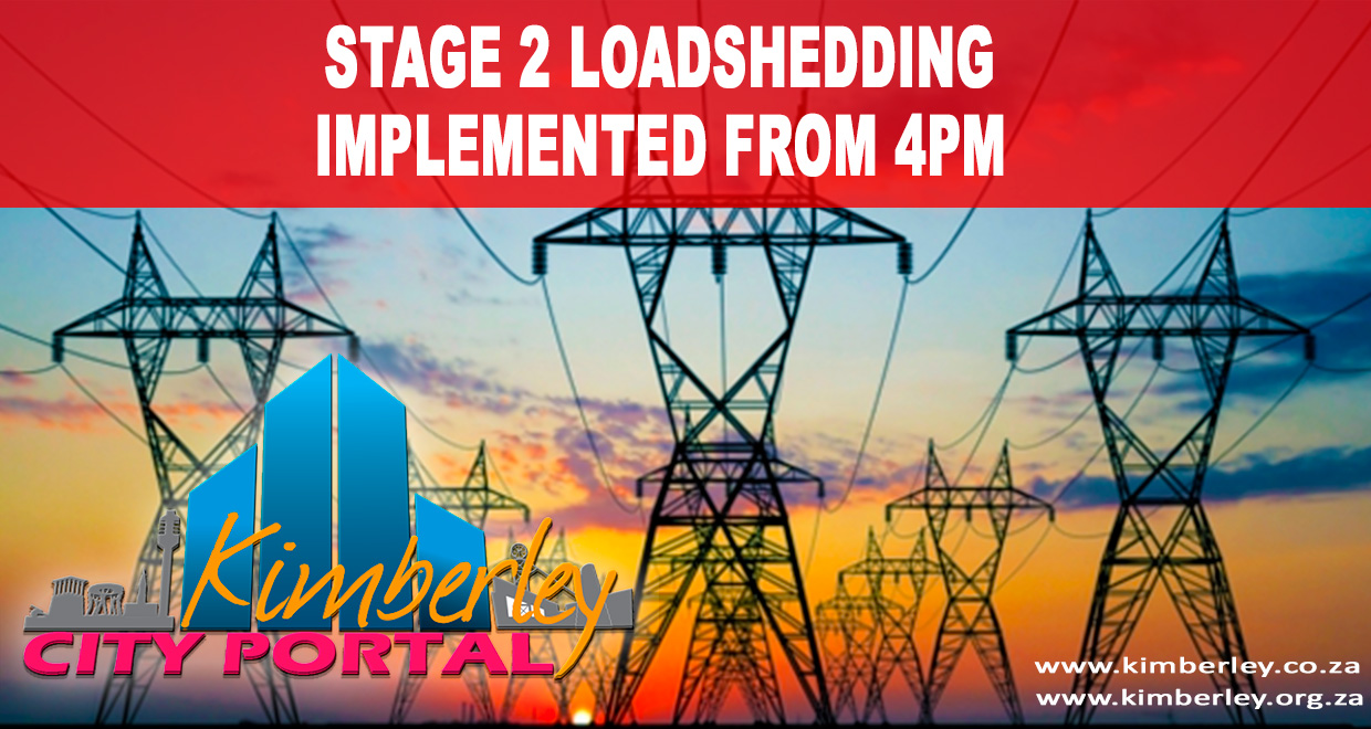 Stage 2 Load Shedding Schedule: Stage 2 Loadshedding From 4pm Today, Thursday 4 Dec 2014