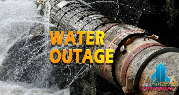 Water outage Kimberley New Park, 16/12/2014