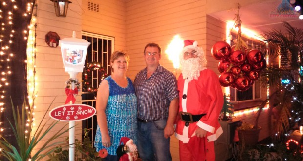 Charlene, Johan and Wentzel Marais - Christmas Lights in Kimberley