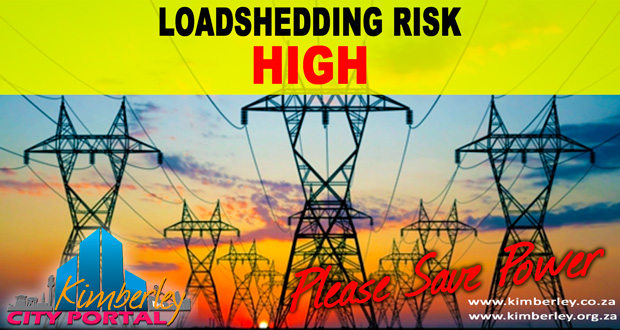 Kimberley Sol Plaatje Municipality Loadshedding / Beurtkrag High risk