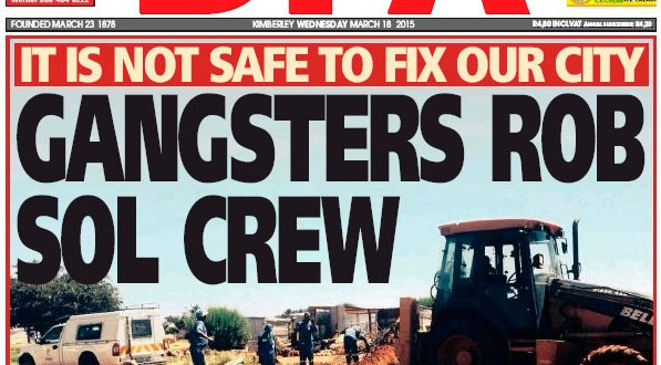 Gangsters Rob Sol Workers - DFA 18/03/2015