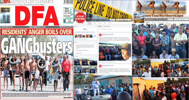 Galeshewe & Kimberley Stand up against Crime an gansters