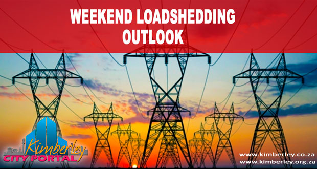 Kimberley Sol PLaatje Municipality Weekend Loadshedding Outlook Red