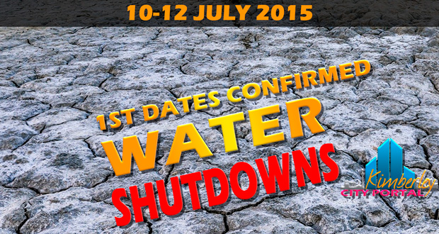 Kimberley Sol Plaatje Winter 2015 water shut-downs Header