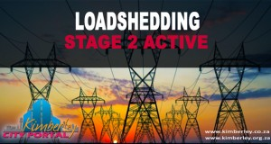 Stage 2 Loadshedding 8:00 to 12:00. Kimberley Sol Plaatje Municipality