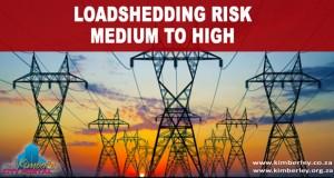 Kimberley Sol Plaatje Loadshedding risk Medium to High
