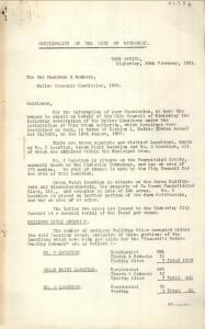 Historic Kimberley Municipality Document 1931 - No 2 Location, Green Point Location, No 3 Location