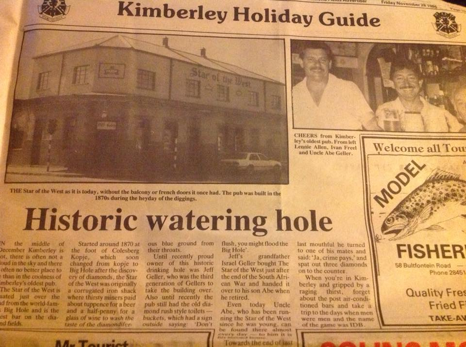 Star of the west Historic - Kimberley Holiday Guide