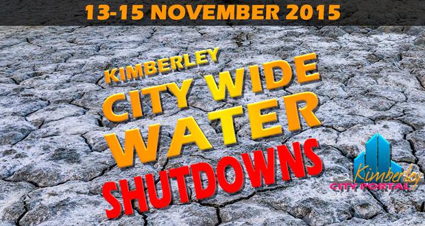 November City Wide Water Shutdown in KIimberley