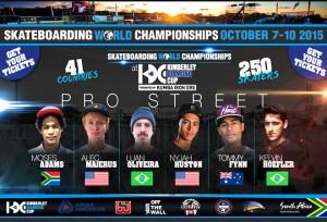The 2015 Kimberley Diamond Cup World Skateboarding Championships Lineup