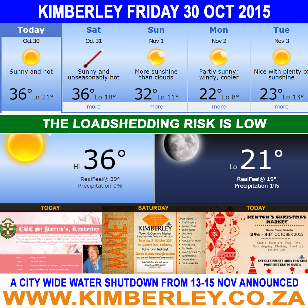 Today in Kimberley South Africa - Weather Lo