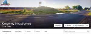 Stay current with water, electrcity and other municipal notices on the Kimberley Infrastructure Facebook Group