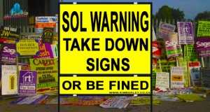Sol Plaate Signage By-law - Take Down Signs Warning