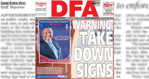 The DFA 05/11/2015 - Sol Warning - Take down signs