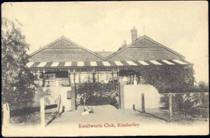 Historic Postcard Kenilworth Club Kimberley