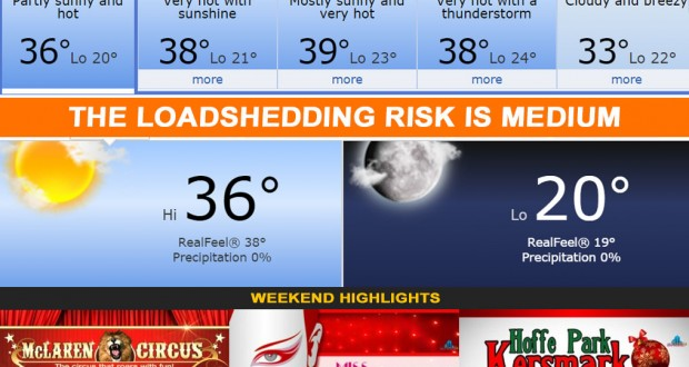 Today in Kimberley South Africa - Weather Loadshedding Events news