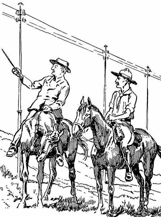 Sketch of Rhodes on horseback by Robert Baden-Powell.