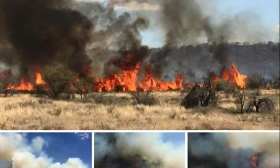 Veld fire outside Kimberley -