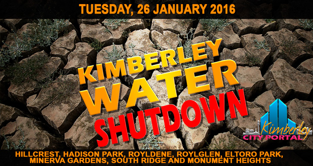 Kimberley Water Shutdown - 26/01/2016