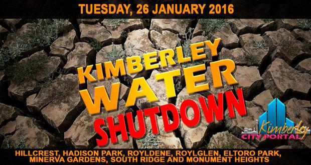 Kimberley Water Shutdown - 26/01/2016