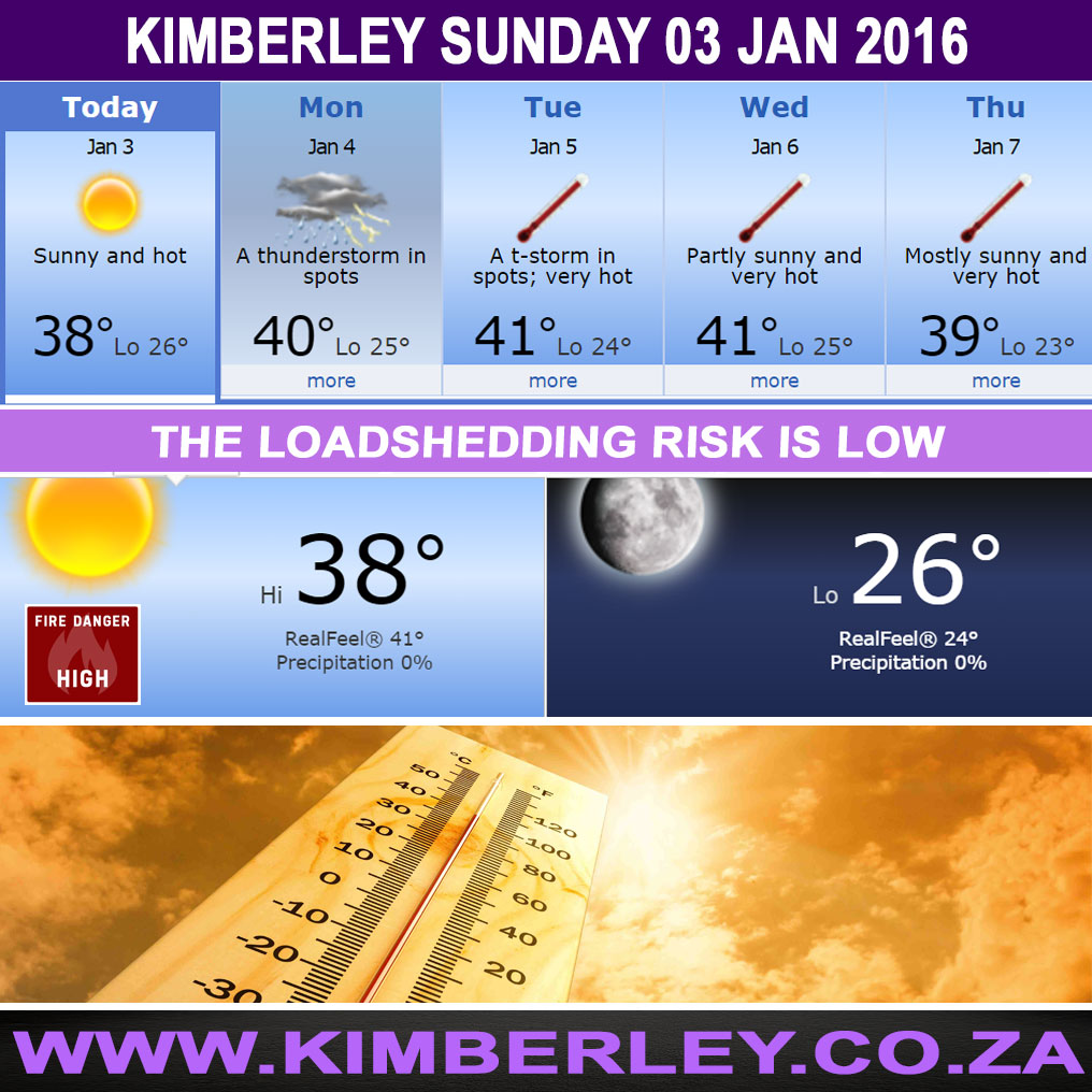 Today in Kimberley South Africa - Weather News Event 03/01/2016