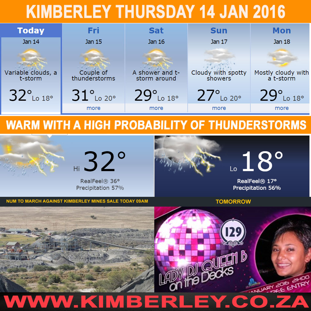 Today in Kimberley South Africa - Weather News Event 14/01/2016
