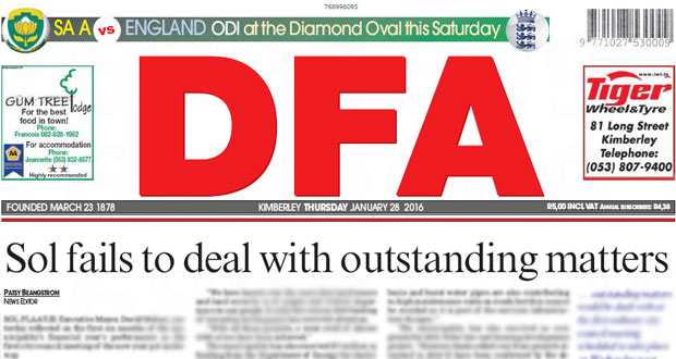 The DFA Sol Fails to deal with outstanding matters 28/01/2016
