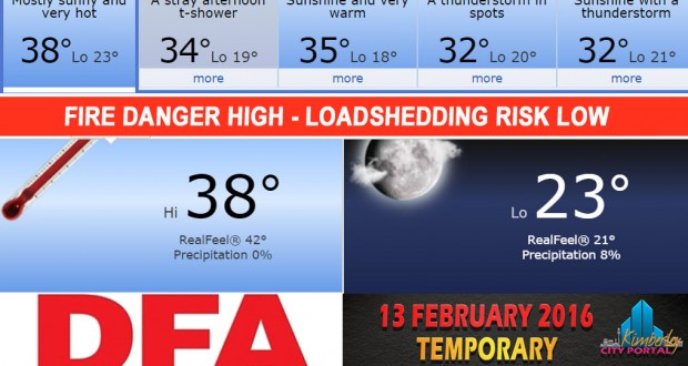 Today in Kimberley South Africa - Weather News Events