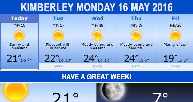 Today in Kimberley South Africa - Weather News Events 2016/05/16