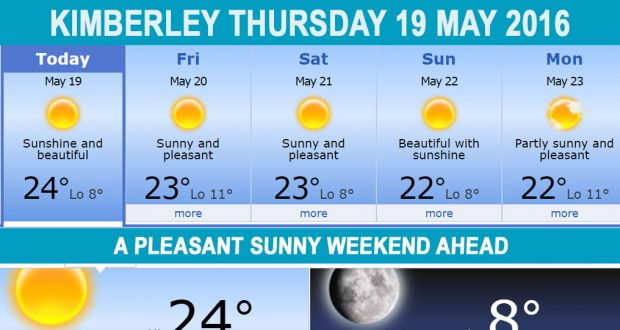 Today in Kimberley South Africa - Weather News Events 2016/05/19