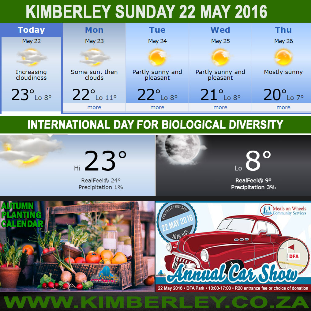 Today in Kimberley South Africa - Weather News Events 2016/05/22