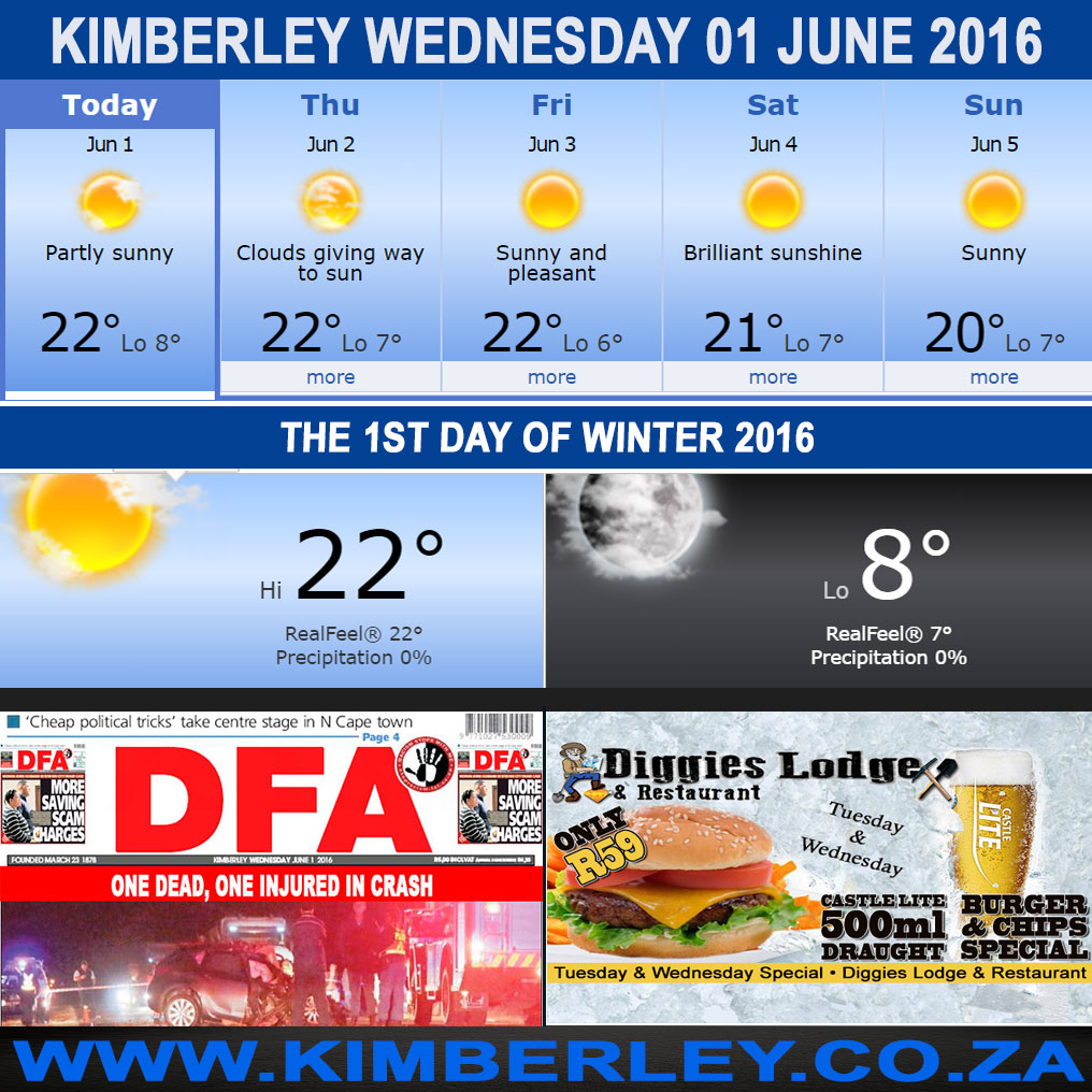 Today in Kimberley South Africa - Weather News Events 2016/06/01