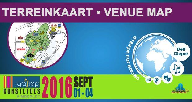 Gariepfees 2016 Terrein Kaart - Gariep Festival Venue Map