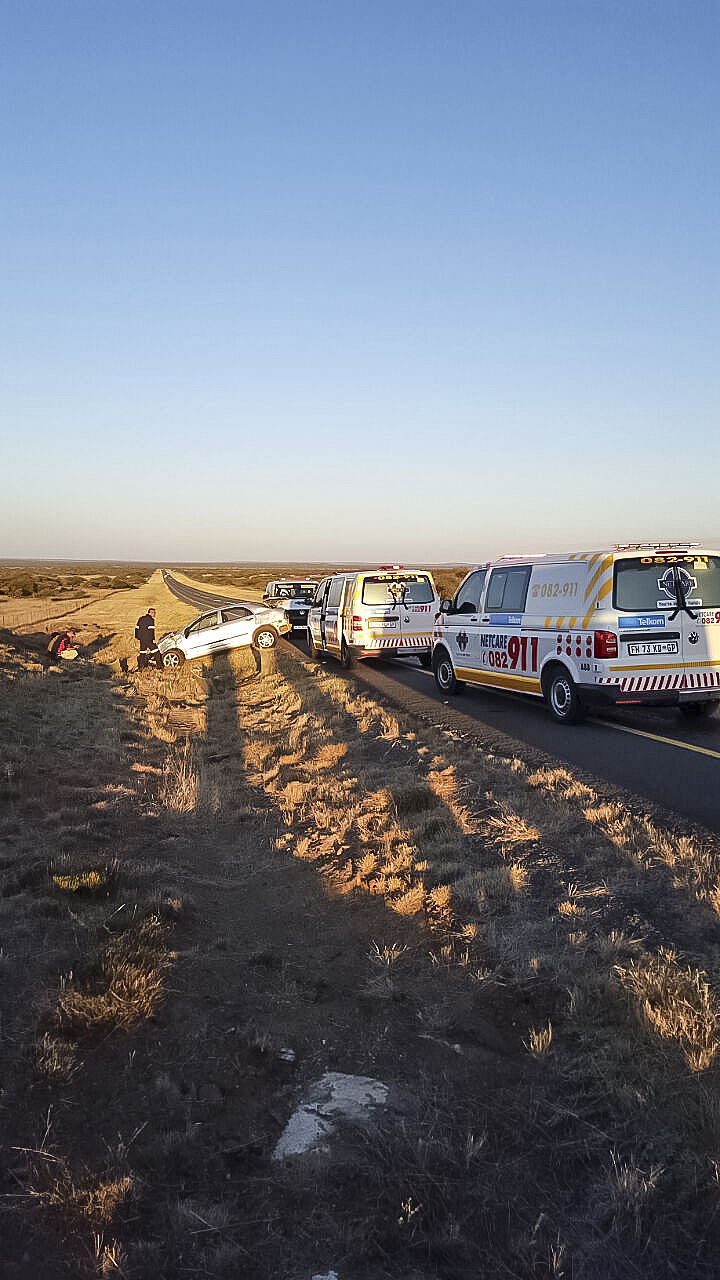 Teenage boy injured in rollover on Griekwastad Road about 20km from Kimberley.