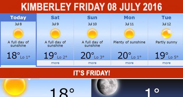 Kimberleytoday Friday 08 07 2016 Kimberley City Info