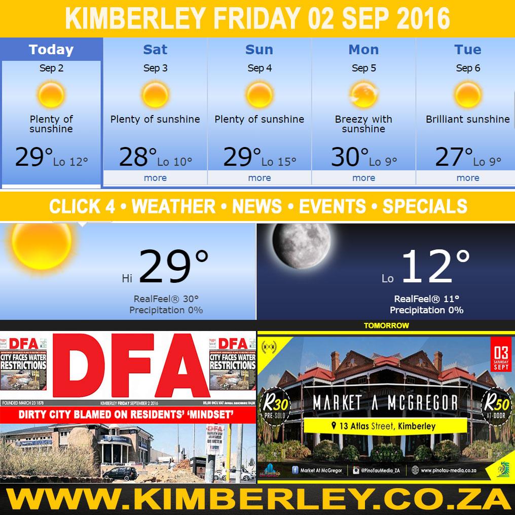 Kimberleytoday Friday 02 09 2016 Kimberley City Info
