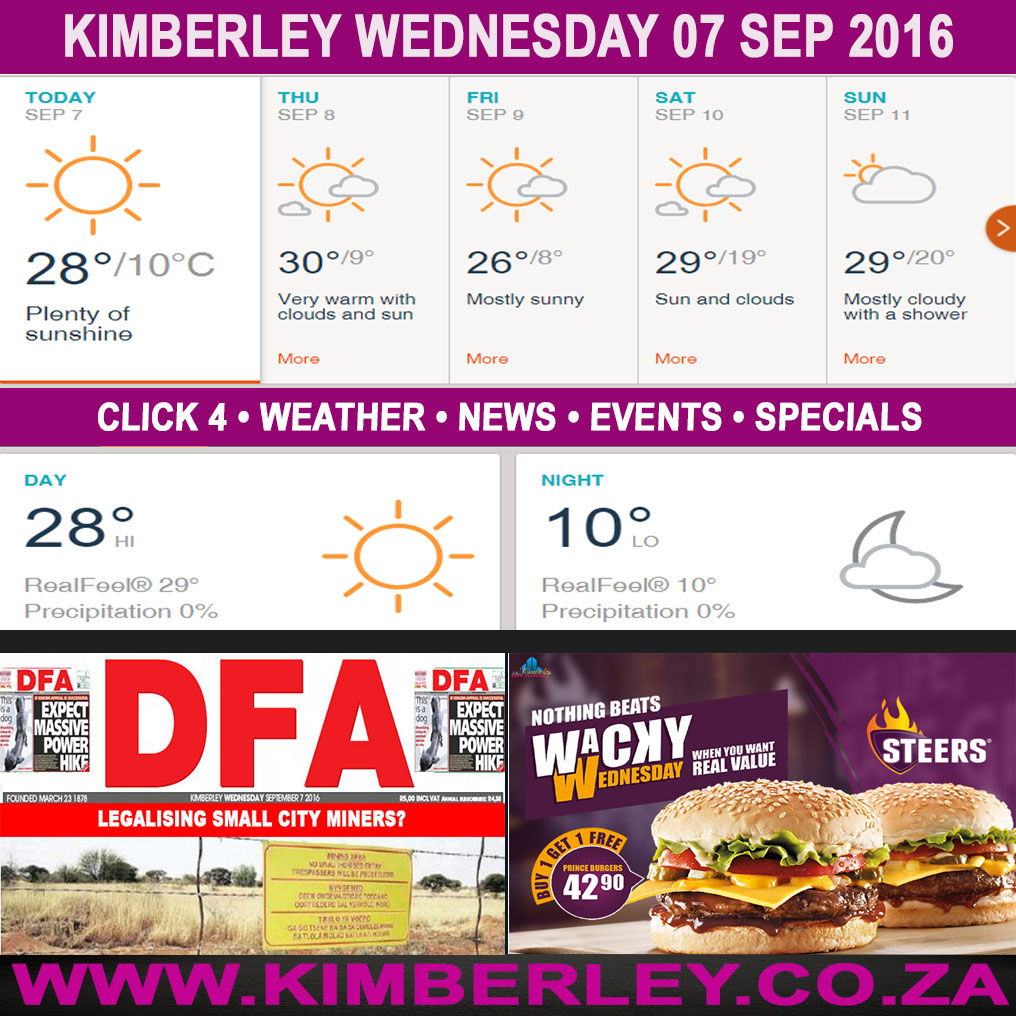 Today in Kimberley South Africa - Weather News Events 2016/09/07