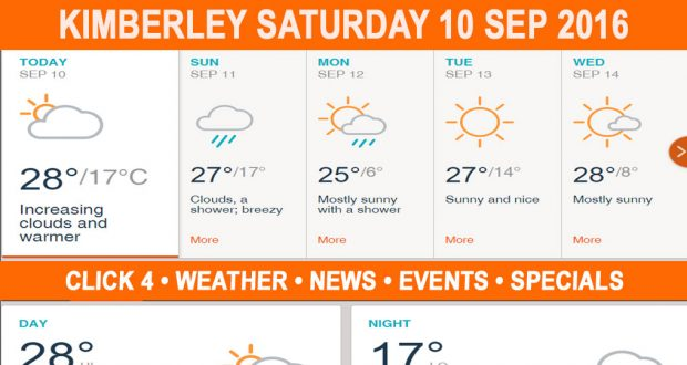 Today in Kimberley South Africa - Weather News Events 2016/09/10