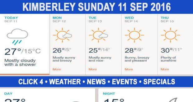 Today in Kimberley South Africa - Weather News Events 2016/09/11