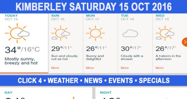 Today in Kimberley South Africa - Weather News Events 2016/10/15